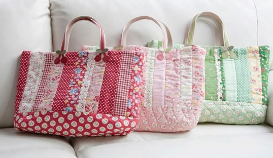 Wide Tote Bag FREE Sewing Pattern