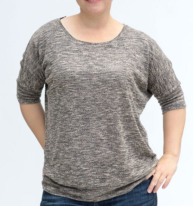 Slouchy tee free sewing pattern