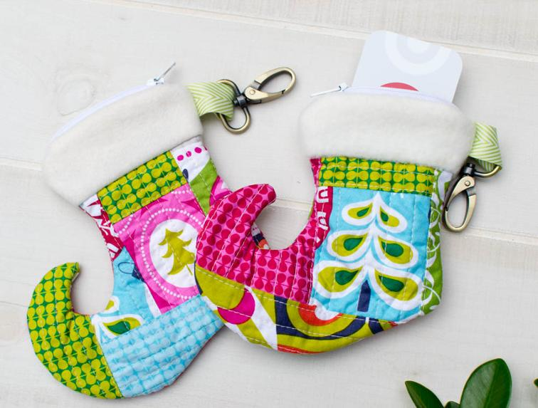 Christmas Stocking Zipper Pouch