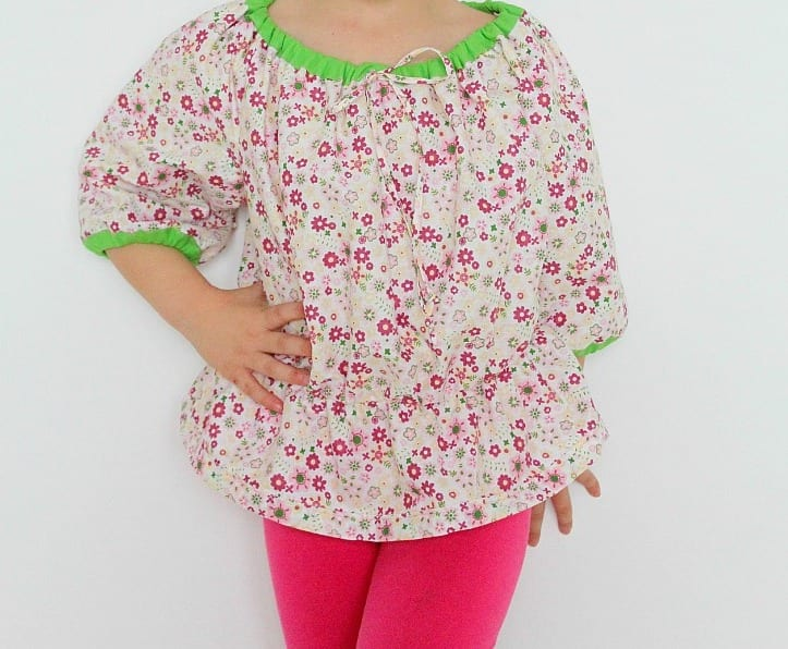 Girls Peasant Top