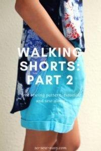 walking shorts sew along