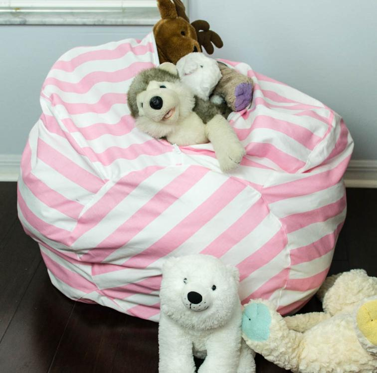 Bean Bag Chair with Toy Storage FREE Pattern and Tutorial - Sewing 4 ...
