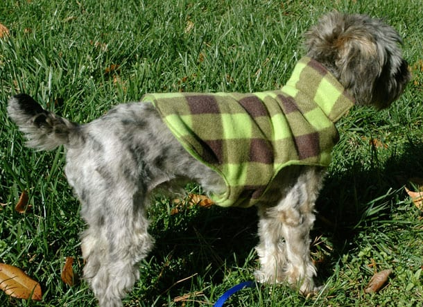 Cozy Fleece Dog Coat FREE Tutorial - Sewing 4 Free