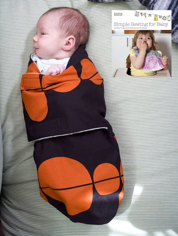 Snuggler Baby Swaddle FREE Sewing Pattern and Tutorial - Sewing 4 Free