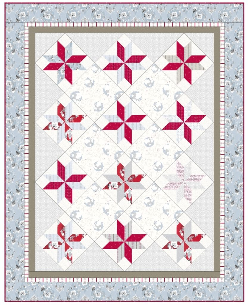 Winterfall Nordic Star Quilt