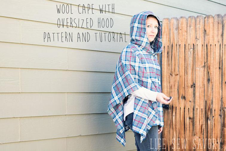 Wool Cape with Oversized Hood FREE Sewing Pattern - Sewing 4 Free