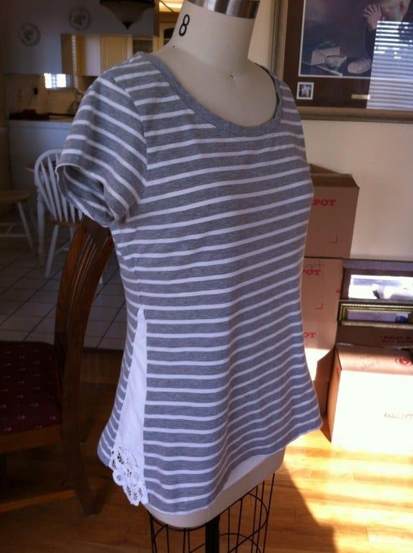 refashioned basic t-shirt