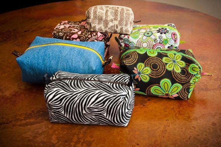Cosmetic Accessories Bag with a Drop-in Lining