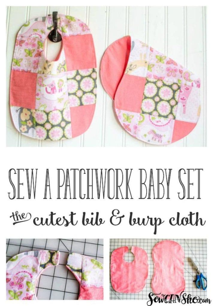 Patchwork Baby Bib