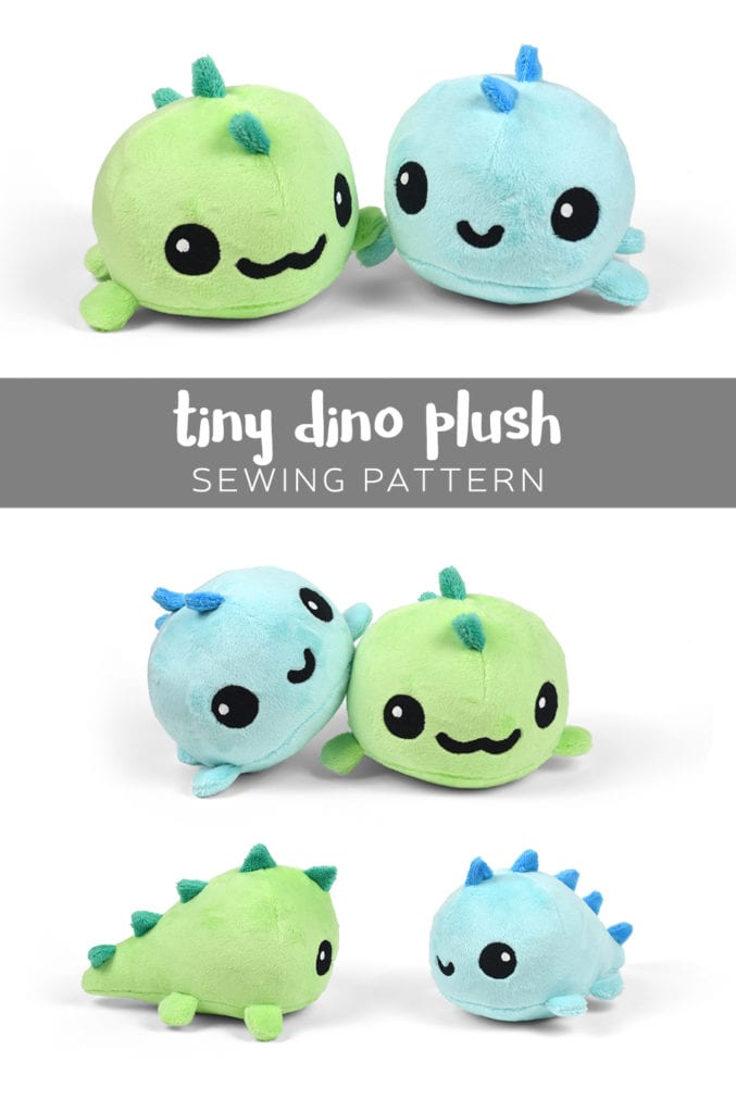 Tiny Dino Plush Free Pattern And Tutorial Sewing 4 Free