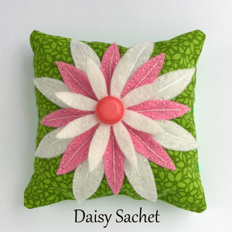 Daisy Sachet FREE Sewing Pattern