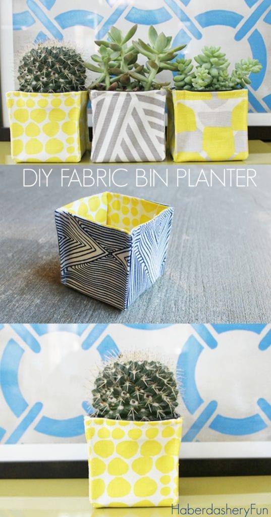 Fabric Bin Planters