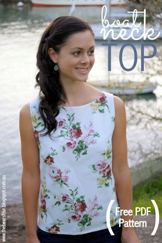 Boat Neck Top FREE Sewing Pattern