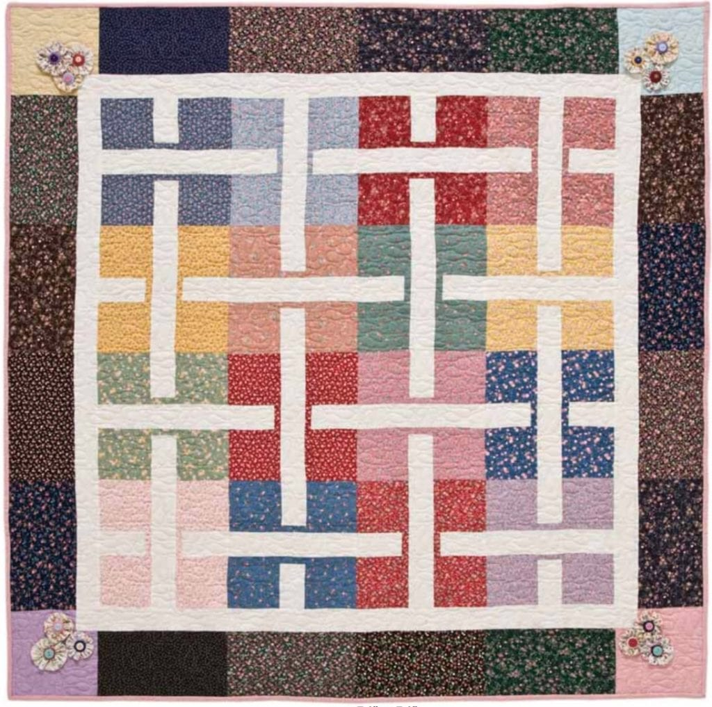 Flower Basket Quilt Free Tutorial