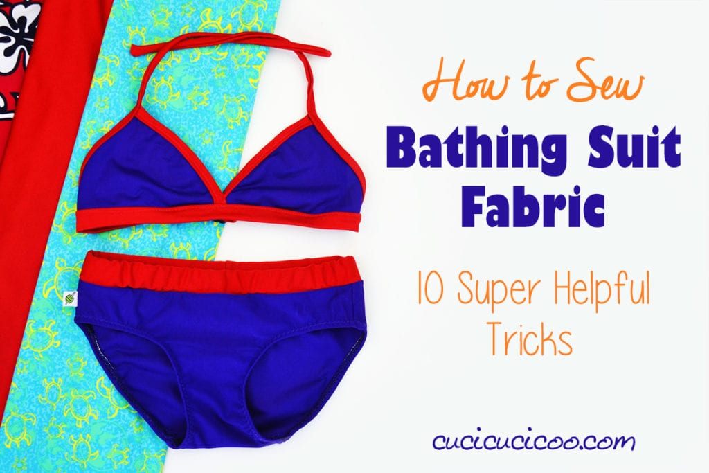 How to sew bathing suit