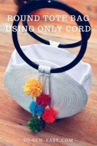 Round Tote Bag Using Cord
