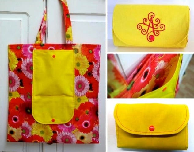 Stow Away Shopping Bag Free Sewing Tutorial Sewing 4 Free