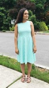 Stripe Flare Dress Free Pattern