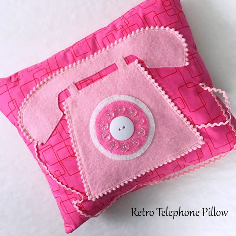 Telephone Pillow Free Pattern