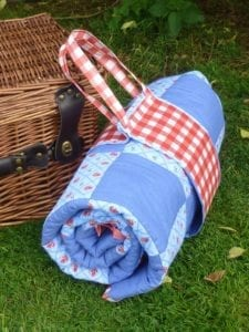 Waterproof Patchwork Picnic Blanket And Carry Pack