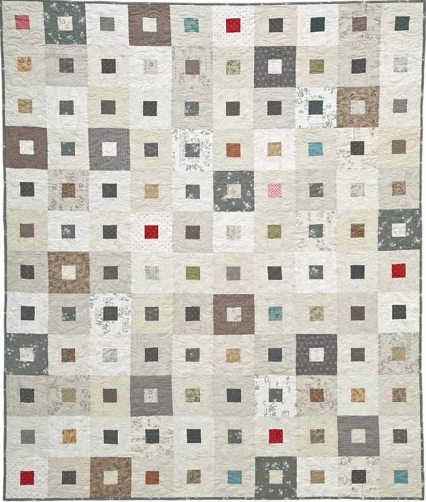 Whitewashed Window Panes Quilt