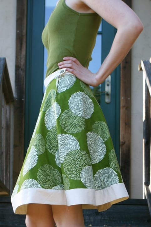 Hemless A-line Skirt FREE Sewing Tutorial - Sewing 4 Free