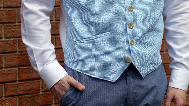 How to sew a men's vest