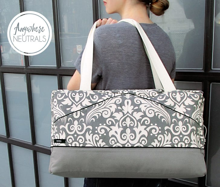 Damask Duffle Bag Free Sewing Tutorial