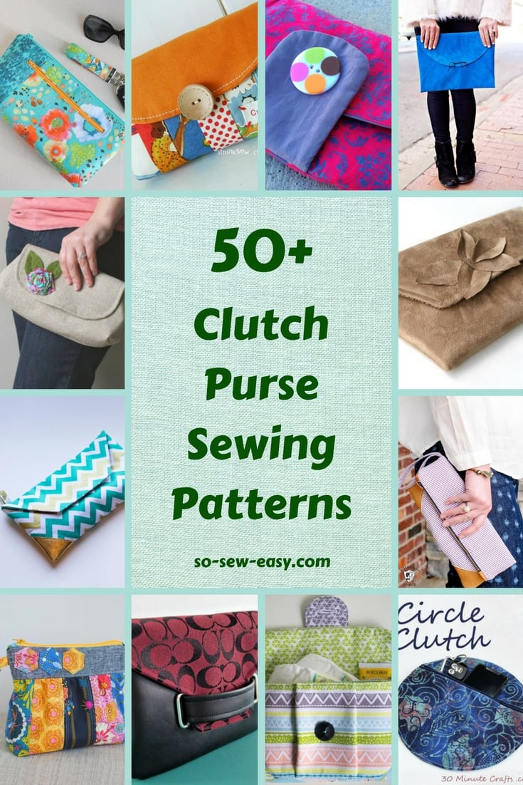 FREE Clutch Purse Sewing Patterns