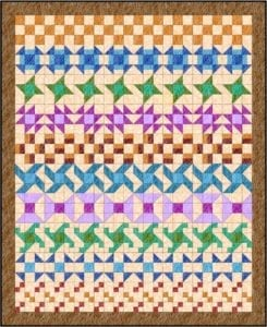 Nine Patch Rows FREE Quilt Tutorial