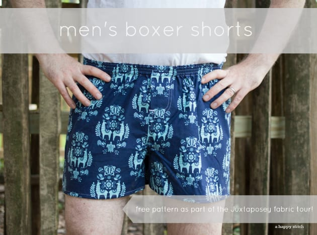 Boxer Shorts FREE Sewing Pattern And Tutorial Sewing 40 Free Enchanting Boxer Pattern