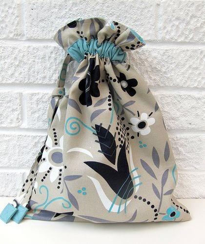 Drawstring Bag FREE Sewing Tutorial