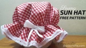 Baby Sun hat free sewing pattern