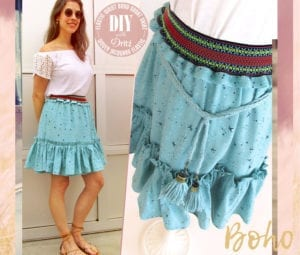 Boho Short Skirt FREE Sewing Tutorial