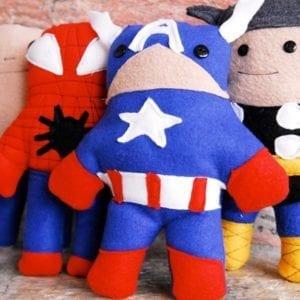 Super Hero Softies FREE Sewing Pattern