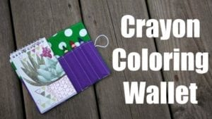 Coloring Wallet FREE Sewing Pattern