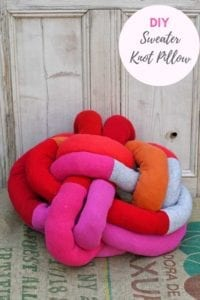 Sweater Knot Pillow
