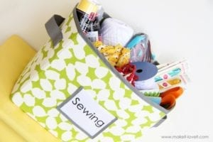 Fabric Storage Boxes free sewing tutorial