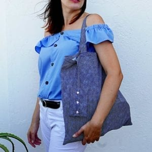 Foldable Shopping Bag Free sewing pattern