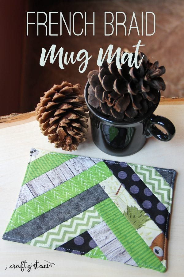 French Braid Mug Mat
