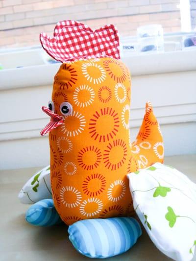 Chicken Softie Free Sewing Pattern