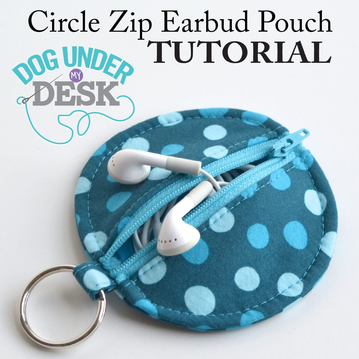 Earbud Pouch FREE Sewing Tutorial