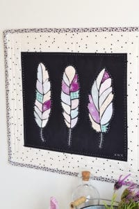 Feathers Mini Quilt