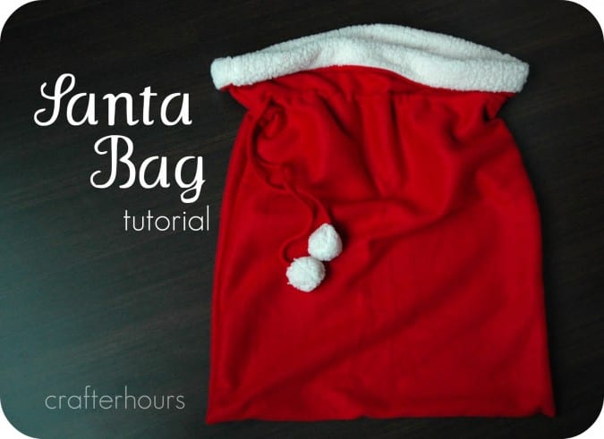 Santa Bag FREE Sewing Tutorial
