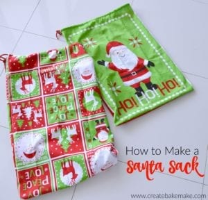 Santa Sack free sewing tutorial
