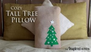 Tall Tree Christmas Pillow FREE Pattern