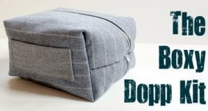 Boxy Dopp Kit Tutorial