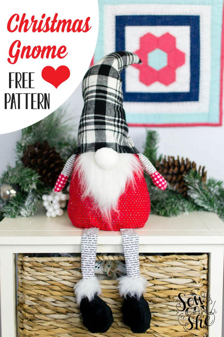 Christmas Gnome Free Sewing Pattern