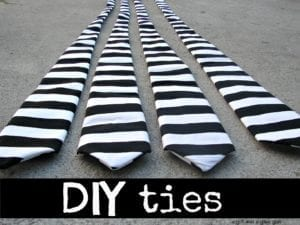 DIY Stripes Tie