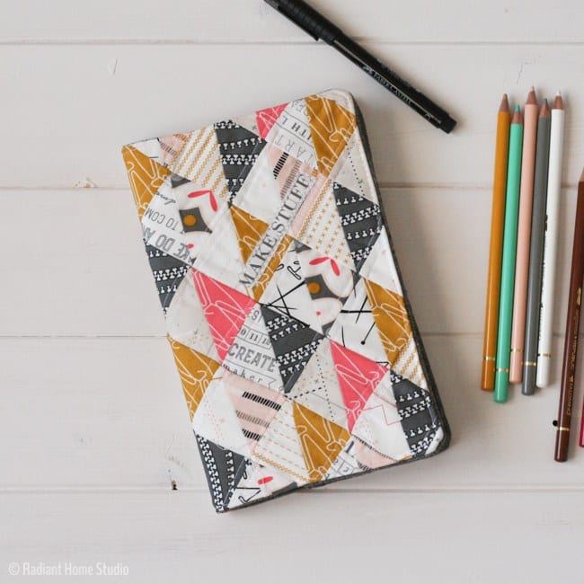 Quilted Sketchbook Cover